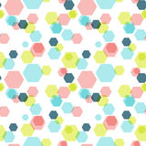 Geometric hexagon seamless pattern Stock Image