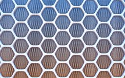Geometric hexagonal abstract background. 3D illustration Royalty Free Illustration
