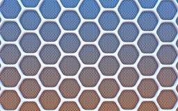 Geometric hexagonal abstract background. 3D illustration Stock Image