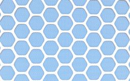 Geometric hexagonal abstract background. 3D illustration Vector Illustration