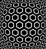 Geometric hexagons pattern. Textured background. Stock Images