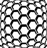 Geometric hexagons pattern. Textured background. Stock Photo