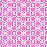 Geometric hexagons seamless pattern Royalty Free Stock Photography