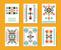 Geometric hipster tribal triangular flyers Royalty Free Stock Photo