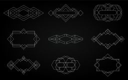 Geometric icons, signs, labels, royalty free stock photos
