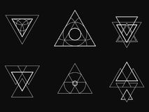 Geometric icons, signs, labels, royalty free stock photography