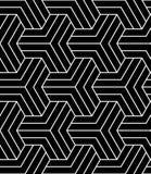 Geometric illusion black and white graphic design print pattern Royalty Free Stock Photos