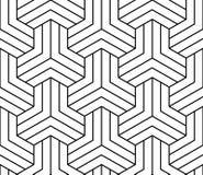 Geometric illusion black and white graphic design print pattern Stock Photography