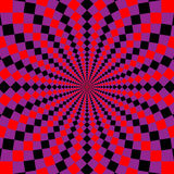 Geometric illusions background Stock Images