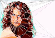 Geometric  illustration of a woman Royalty Free Stock Photo