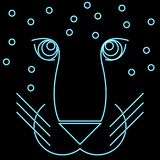Geometric image of a leopard royalty free illustration