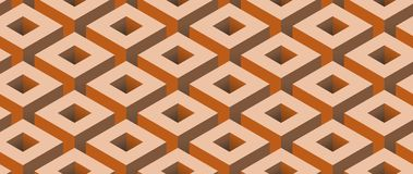 Geometric Industrial Seamless Square Background stock illustration