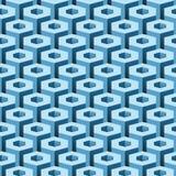 Geometric Industrial Seamless Background Hexagonal Elements stock illustration