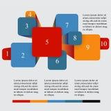 Geometric info graphic elements-illustration Stock Photo