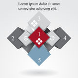 Geometric info graphic elements-illustration Royalty Free Stock Image