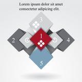 Geometric info graphic elements-illustration Royalty Free Stock Image