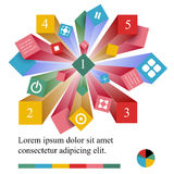 Geometric info graphic elements-illustration Royalty Free Stock Photography