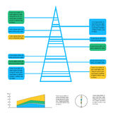 Geometric info graphic elements-illustration Royalty Free Stock Photo
