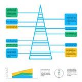 Geometric info graphic elements-illustration Royalty Free Stock Photo