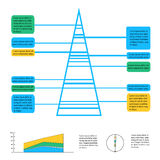Geometric info graphic elements-illustration Stock Image