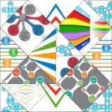 Geometric info graphic elements-illustration Stock Photography