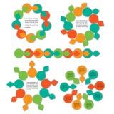 Geometric info graphic elements-illustration Royalty Free Stock Photos