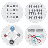 Geometric info graphic elements on the torn paper-illustration Royalty Free Stock Photography