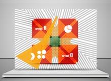 Geometric infographic retro banner Stock Photos