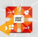 Geometric infographic retro banner Royalty Free Stock Images