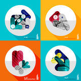 Geometric infographic set in trendy flat style Royalty Free Stock Image
