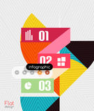 Geometric infographic stripes modern flat design Stock Photos