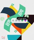 Geometric infographic stripes modern flat design Stock Photography