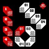 Geometric infographics Royalty Free Stock Photography