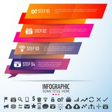 Geometric Infographics Design Template. Vector Illustration Stock Photo
