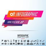 Geometric Infographics Design Template. Vector Illustration Royalty Free Stock Photo