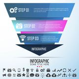 Geometric Infographics Design Template. Vector Illustration Stock Images