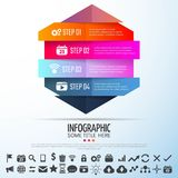 Geometric Infographics Design Template. Vector Illustration Stock Photography