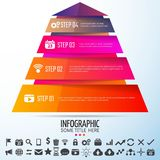 Geometric Infographics Design Template. Vector Illustration Stock Photos