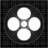 Geometric Intersection Of Cube And Sphere Vector Royalty Free Stock Image