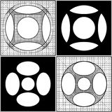 Geometric Intersection Of Cube And Sphere Vector Royalty Free Stock Photos
