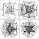 Geometric Intersection Of Six Pyramids Vector Royalty Free Stock Images