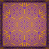 Geometric Islamic Art Pattern in hexagonal violet and golden ornament. Geometric Art Pattern in hexagonal violet and golden ornament vector illustration