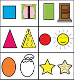 Geometric for kids vector illustration