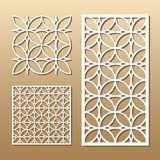 Geometric laser cut. Die cut card. Laser cut vector panel. Cutout silhouette with geometric pattern. A picture suitable for printing, engraving, laser cutting Royalty Free Stock Images