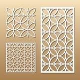 Geometric laser cut royalty free illustration