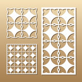Geometric laser cut Stock Photo