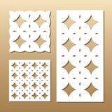 Geometric laser cut Royalty Free Stock Photography