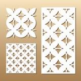 Geometric laser cut Stock Images