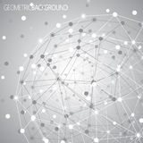 Geometric lattice, the molecules in the circle Stock Photo