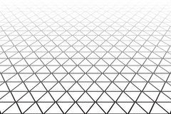 Geometric latticed texture. Perspective view. Royalty Free Stock Photos